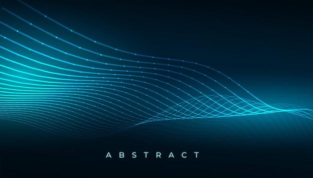 Digital technology blue wave lines background design