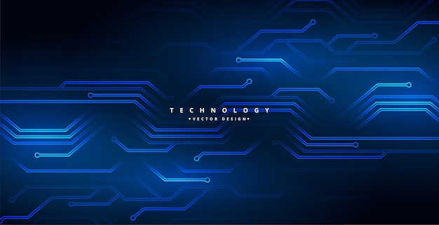 Digital technology circuit lines diagram background design