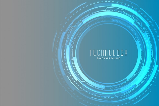 Digital technology circular futuristic banner glowing design