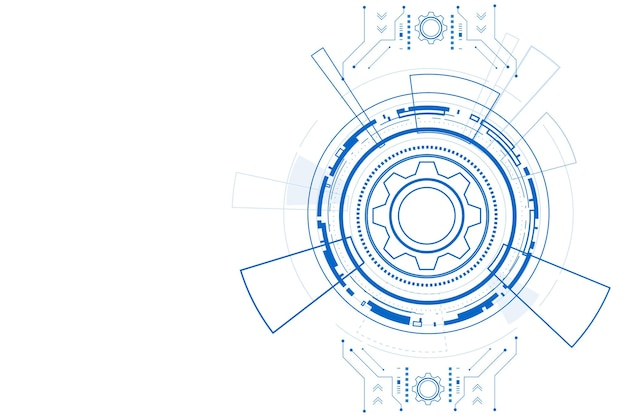 Digital technology and engineering digital telecoms concept hitech futuristic technology