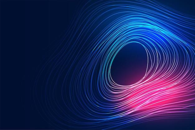 La tecnologia digitale linee fluide sullo sfondo del movimento