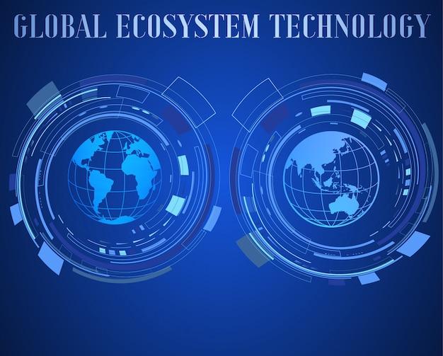 Цифровые технологии значок иллюстрации. интернет вещей шаблон фона.