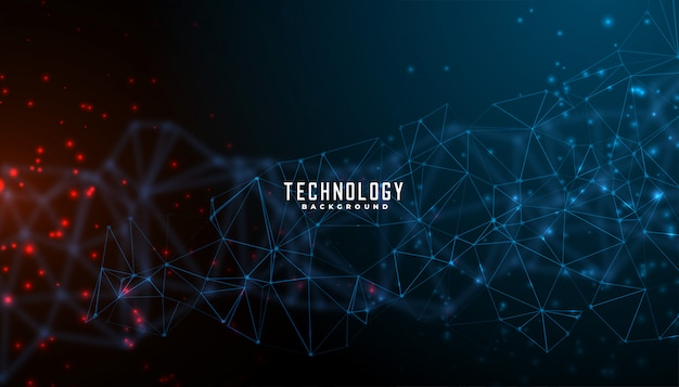Digital technology and particles mesh background design