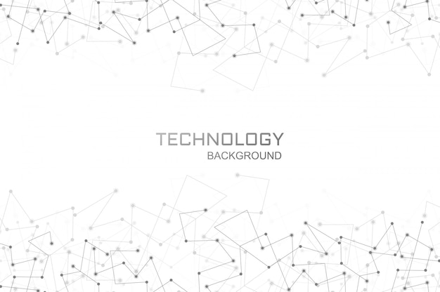 Digital technology polygon connection background