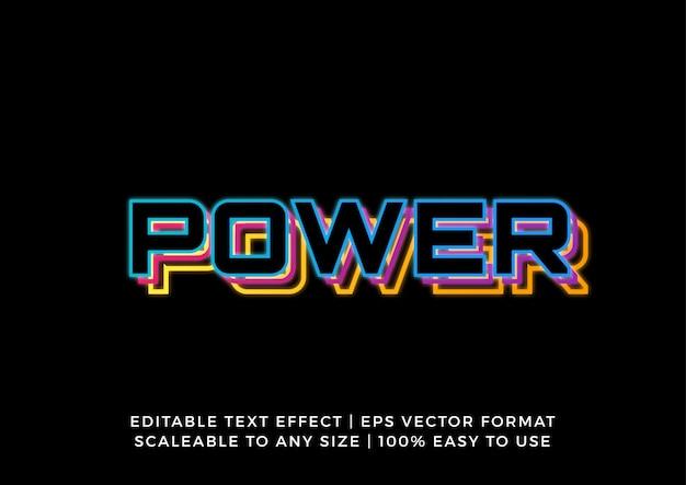 Digital technology retro neon text effect