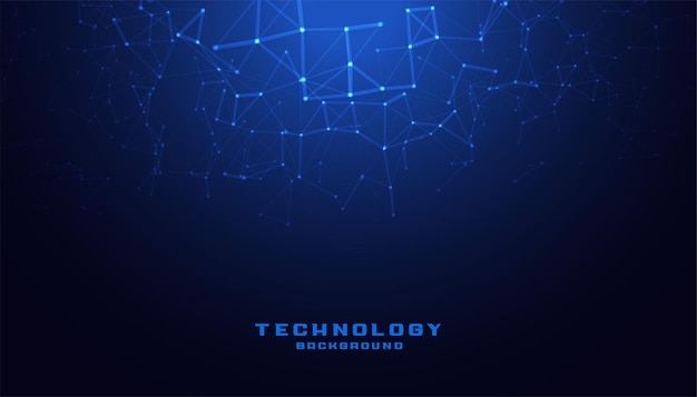 Digital technology with low poly mesh diagram