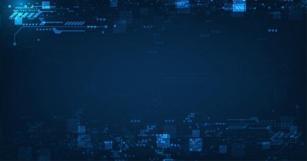 Digital telecom concept on dark blue color banner