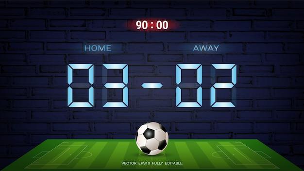 Digital timing scoreboard on a dark background.
