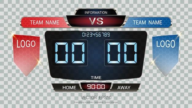 Digital timing scoreboard.