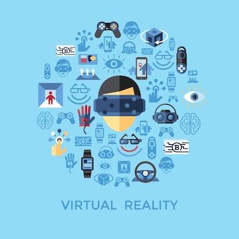 Digital vector virtual augmented reality set collection, next generation gaming