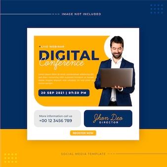 Digital webinar social media post template
