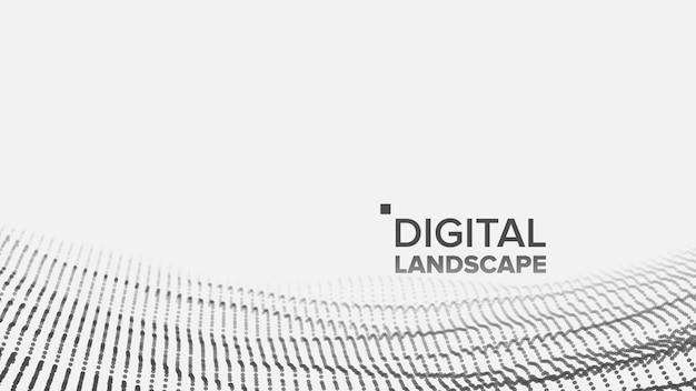 Digital white landscape