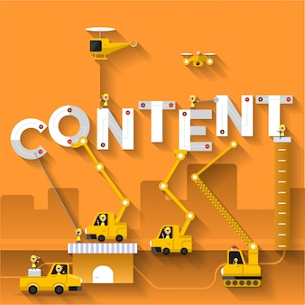 Digital word concept