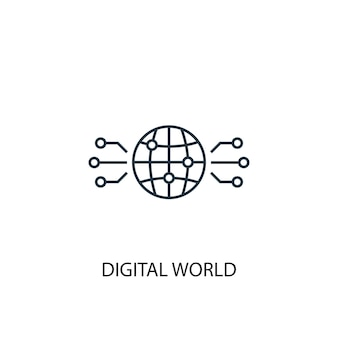 Digital world concept line icon. simple element illustration. digital world concept outline symbol design. can be used for web and mobile ui/ux