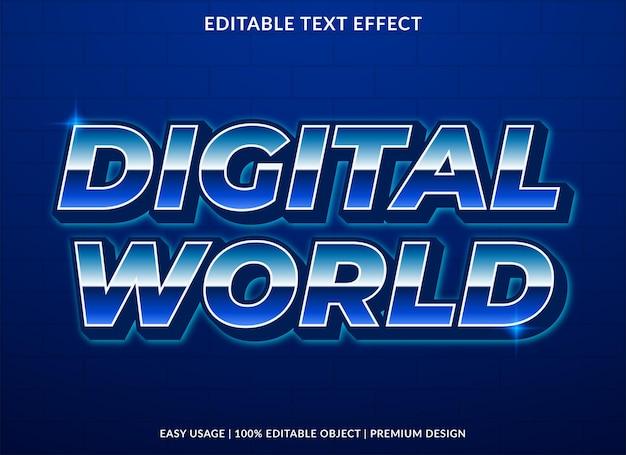デジタル世界のテキスト効果テンプレートデザイン
