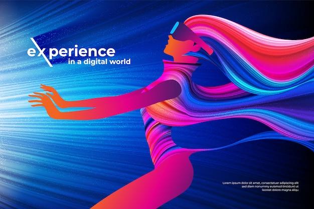 디지털 세계 테마 디자인