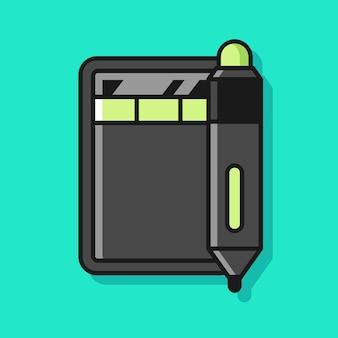 Иллюстрация планшета пера дигитайзера