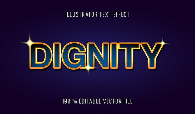 Dignity text effect