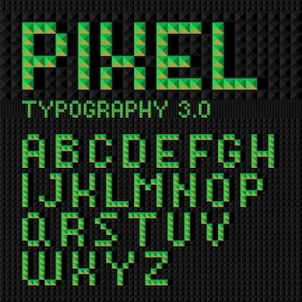 Digotal 스타일 벡터 글꼴 세트