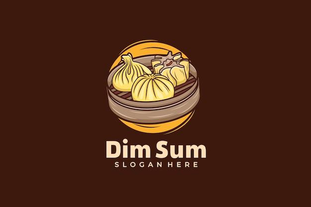 Dim sum logo design template