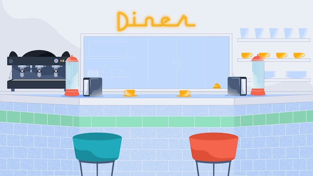 Diner background vector illustration