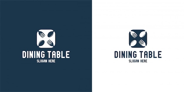 Обеденный стол силуэт логотип