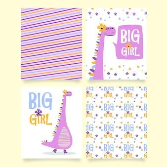 Dino big girl cute printable