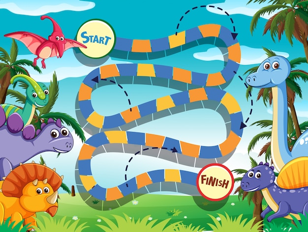 Dino board game template