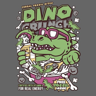 Dino crunch cartoon