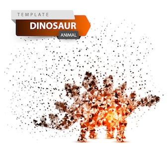 Dino, dinosaur - glare dot illustration.