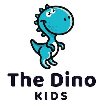 Шаблон логотипа dino kids