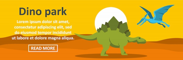 Dino park banner template horizontal concept