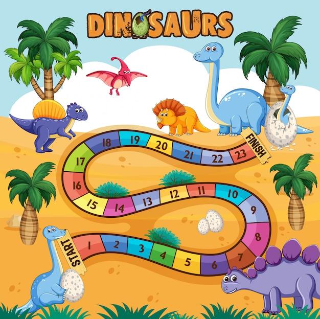 Dino path board game