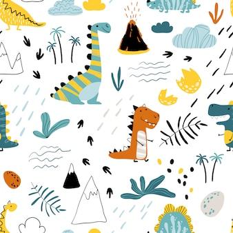 Dino pattern scandinavian
