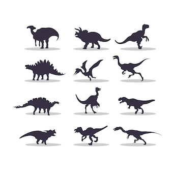 Dino silhouette vector illustration design