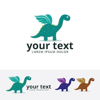 Dino wings logo template