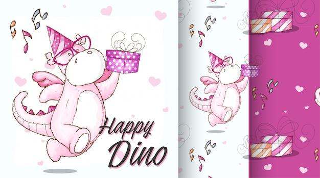 Милая иллюстрация картины dino