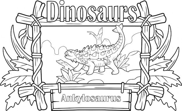 Dinosaur ankylosaurus,