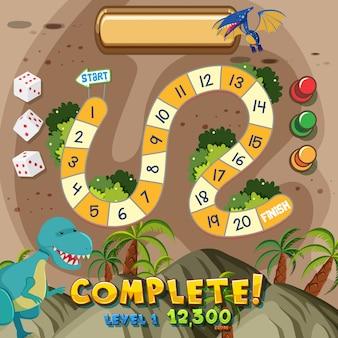 Dinosaur board game background