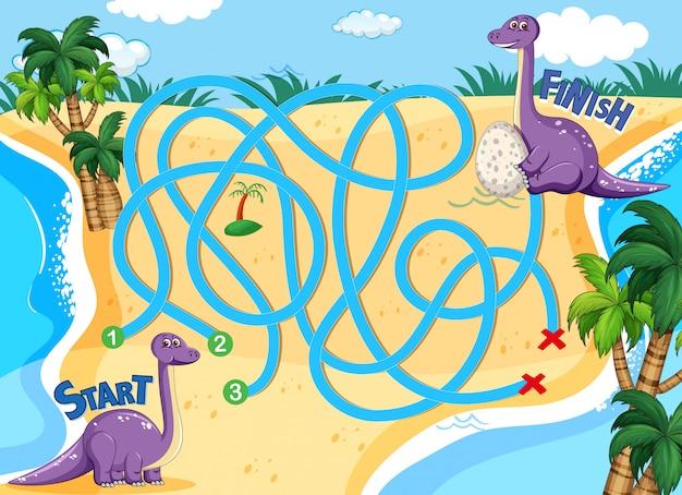 A dinosaur board game template