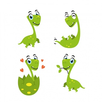 Забавный дизайн персонажа из мультфильма динозавра