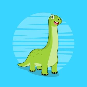 恐竜かわいいイラストのコンセプトが分離されました。フラット漫画スタイル