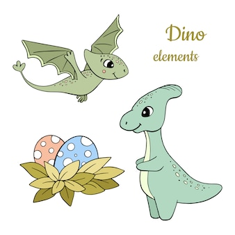 Dinosaur elements set