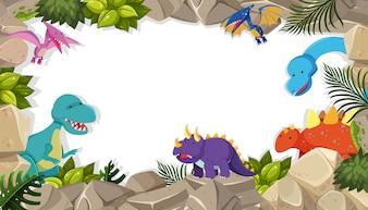 Dinosaur frame theme concept