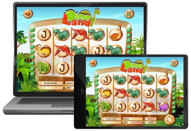 Dinosaur game on laptop screen