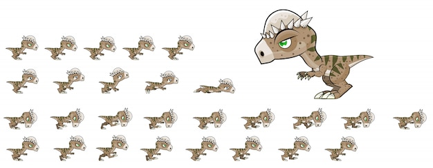 Динозавр игровые спрайты