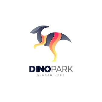 Dinosaur gradient logo template
