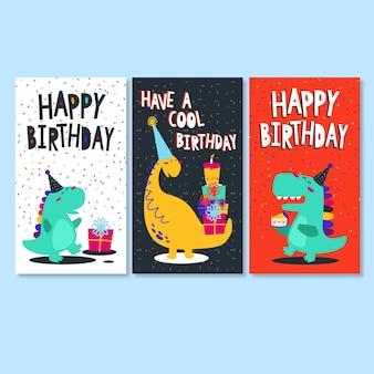 Dinosaur happy birthday cards