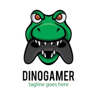 Голова динозавра геймер векторный логотип