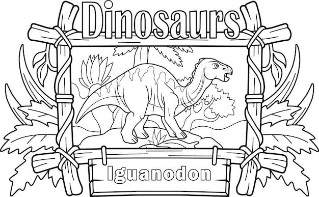 Dinosaur iguanodon